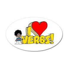 I Heart Verbs - Schoolhouse R 22x14 Oval Wall Peel