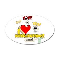 I Heart Interjections 22x14 Oval Wall Peel