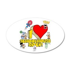 I Heart Schoolhouse Rock! 22x14 Oval Wall Peel
