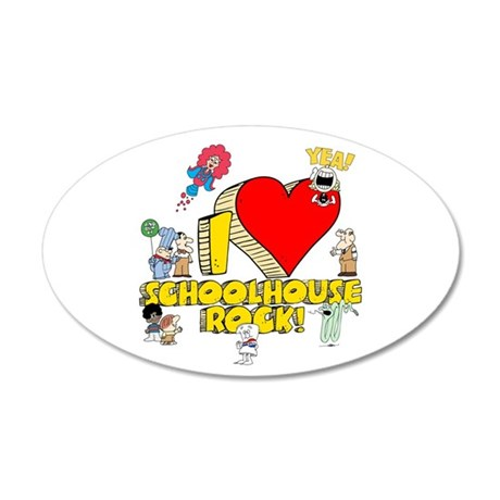 I Heart Schoolhouse Rock! 22x14 Oval Wall Peel