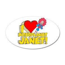 I Heart Interplanet Janet! 22x14 Oval Wall Peel