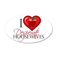 I Heart Desperate Housewives 22x14 Oval Wall Peel