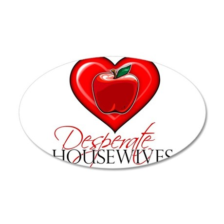 Desperate Housewives Heart 38.5 x 24.5 Oval Wall P