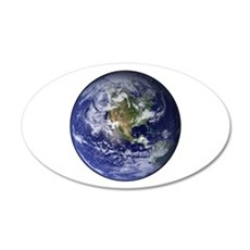 Western Earth from Space 22x14 Oval Wall Peel