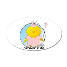 Popular Chick 22x14 Oval Wall Peel
