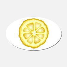 Lemon Slice 22x14 Oval Wall Peel