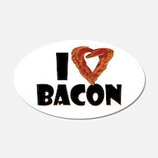 I Heart Bacon 22x14 Oval Wall Peel
