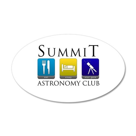 Summit Astronomy Club - Starg 22x14 Oval Wall Peel