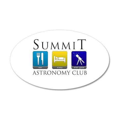 Summit Astronomy Club - Starg 38.5 x 24.5 Oval Wal