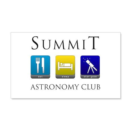 Summit Astronomy Club 22x14 Wall Peel