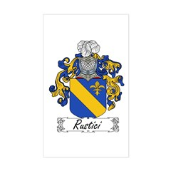 Rustici Coat of Arms Rectangle Decal