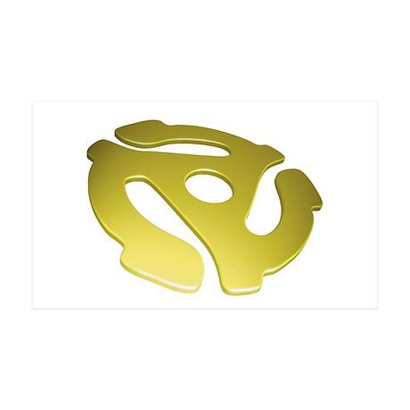 Gold 3D 45 RPM Adapter 38.5 x 24.5 Wall Peel
