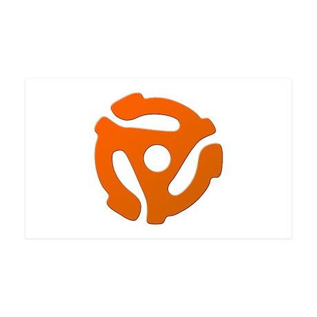 Orange 45 RPM Adapter 38.5 x 24.5 Wall Peel
