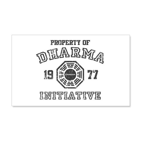 Property of Dharma Distresses 22x14 Wall Peel