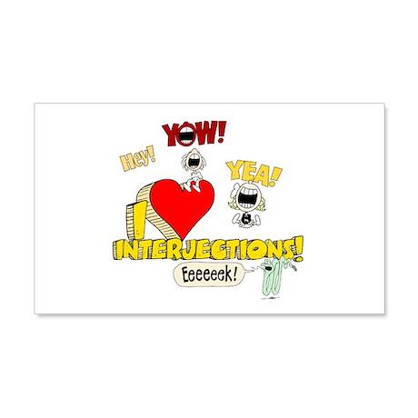I Heart Interjections 22x14 Wall Peel
