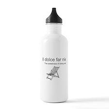 Il Dolce Far Niente Beach Water Bottle