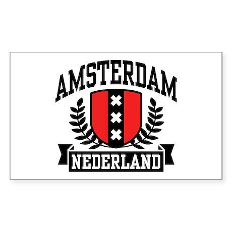 Amsterdam Nederland Sticker (Rectangle)