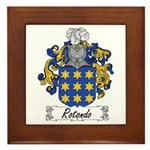 Rotondo Coat of Arms Framed Tile