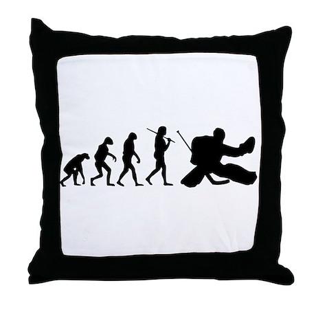 The Evolution Of The Hockey Goalie Throw Pillow