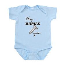 Funny Anti hamas Infant Bodysuit
