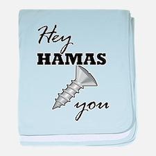 Cute Anti israeli baby blanket