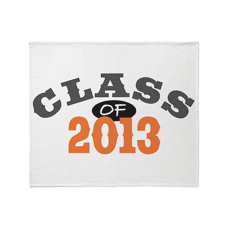 Class Of 2013 Orange Throw Blanket