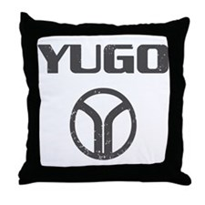 Yugo Cars Throw Pillow