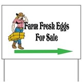 Eggs for sale sign Yard Signs