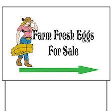 Farm Fresh Eggs for Sale/Yard Sign