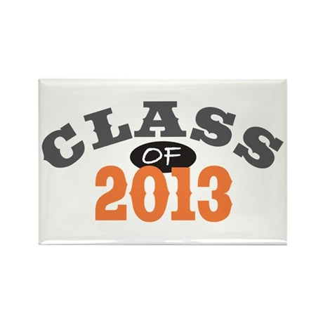 Class Of 2013 Orange Rectangle Magnet