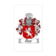 Rossi Family Crest Rectangle Decal