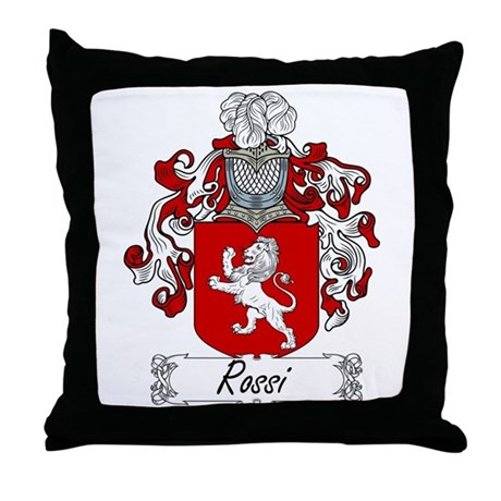 Rossi Family Crest Throw Pillow