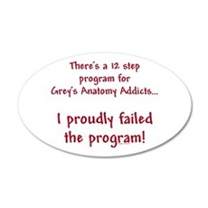 12 Step Greys Anatomy Program 22x14 Oval Wall Peel