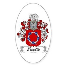 Rosetta Family Crest Oval Decal
