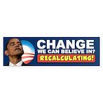 Recalculating Obama Sticker (Bumper)