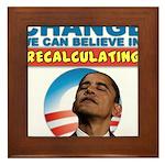 Recalculating Obama Framed Tile
