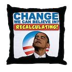 Recalculating Obama Throw Pillow