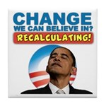 Recalculating Obama Tile Coaster