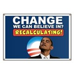 Recalculating Obama Banner