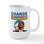 Recalculating Obama Large Mug