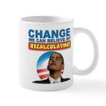 Recalculating Obama Mug