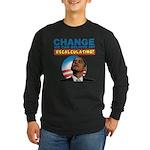 Recalculating Obama Long Sleeve Dark T-Shirt