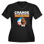 Recalculating Obama Women's Plus Size V-Neck Dark