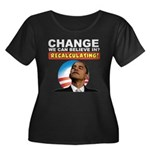 Recalculating Obama Women's Plus Size Scoop Neck D