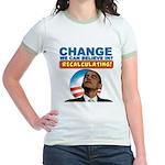 Recalculating Obama Jr. Ringer T-Shirt