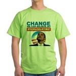 Recalculating Obama Green T-Shirt