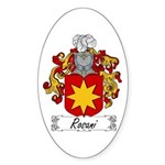 Rosani Coat of Arms Oval Sticker
