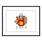 Rosani Coat of Arms Large Framed Print