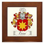 Rosani Coat of Arms Framed Tile