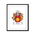 Rosani Coat of Arms Framed Panel Print